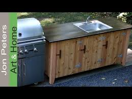 how to build an outdoor kitchen cabinet youtube outside cabinets