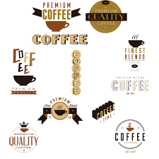 coffee design elements vector free download