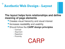 visual layout meaning lesson 1 principles of web design ppt download