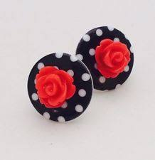 rockabilly earrings rockabilly earrings par madewithlovebygen sur etsy 10 00 bows