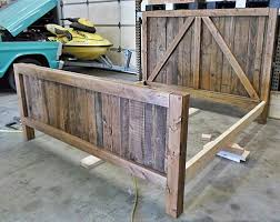 Barn Bed Pallet Wood Up Cycled Into One Heavy Duty Barn Door Bed Hometalk