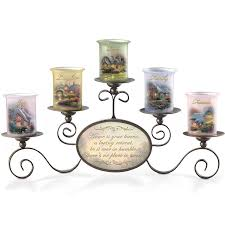amazon com thomas kinkade warmth of home candleholder set gives a