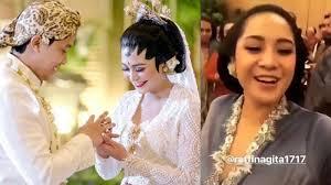 wedding dress nagita slavina nagita til cantik di pernikahan caca netizen keluarga