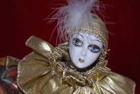 mardi gras doll antique store and estate sales porcelain musical clown jester