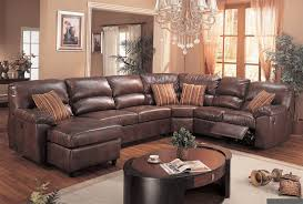 Living Room Stylish Gorgeous Small Sectional Leather Sofa Brown - Sectionals leather sofas