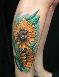 sunflower tattoo designs creativefan