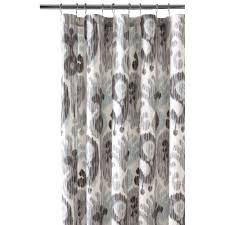 Black White Gray Curtains Home Decorators Collection 72 In Still Water Grey Shower Curtain