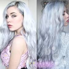gray hair fad silver hair avec notre 55cm 220g extensions extensions
