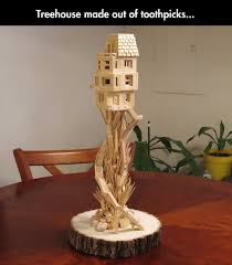toothpick treehouse tree houses craft and