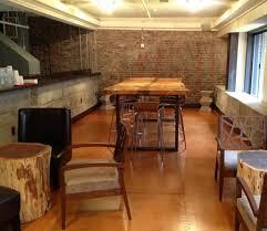 Live Edge Bar Table Darn Good Foods Live Edge Slab Furniture In San Francisco