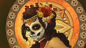 pretty halloween wallpaper dia de los muertos walldevil