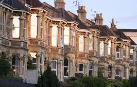 a terrace of typically british victorian houses u2014 stock photo