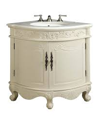 antique bathroom sinks and vanities antique white bay view corner bathroom sink vanity model bc030w aw