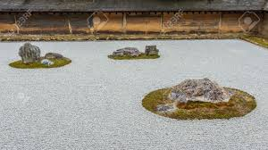 zen rock garden in ryoanji temple in kyoto stock photo picture