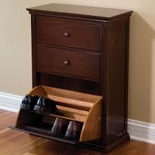 Shoe Cabinet The Hideaway Shoe Cabinet Hammacher Schlemmer