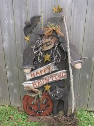 wood craft primitive halloween witch cat pattern 240