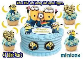 edible minions despicable me standup birthday cake cupcake