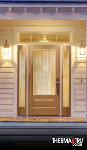 privacy glass interior doors therma tru classic craft oak collection fiberglass door with