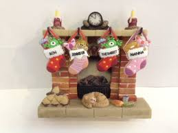 fireplace display medium by waiting for santa