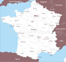 France Cities Map by Calendar Map Of France