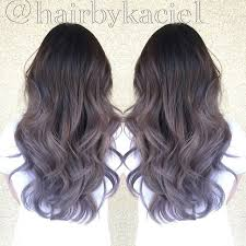 shag haircut brown hair with lavender grey streaks lavender grey ombré pinteres