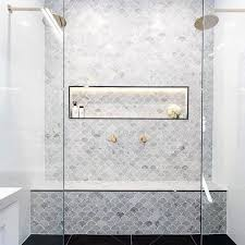 38 beautiful fish scale tile bathroom ideas fish scale tile