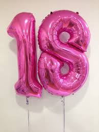large birthday balloons age 18 large hot pink number balloons 18th birthday special