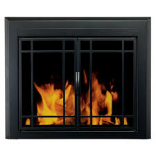 pleasant hearth easton small glass fireplace doors ea 5010 the