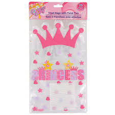 princess candy bags bulk princess hearts cello loot bags 20 ct packs at dollartree