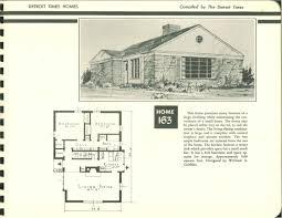 detroit times home plans 1950 vintage house plans 1950s