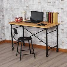 bureau loft industriel industriel américain de style loft bureau mobile en fer forgé tables