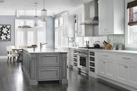 gray kitchen cabinets with white trim gray kitchen island with gray trim moldings transitional