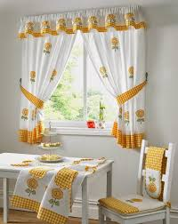 White Curtains With Yellow Flowers Curtains For Kitchen Design Send Ideas For Window Decoration