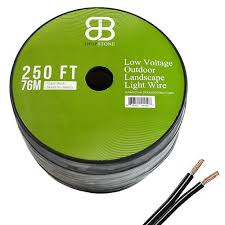 Landscape Lighting Cable 250ft Low Voltage 12awg 2core Outdoor Light Parallel Flat
