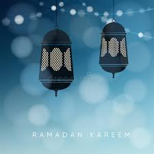 ornamental arabic lanterns with string of lights greeting card