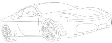 ferrari sketch ferrari f430 lineart by asianmaster939 on deviantart