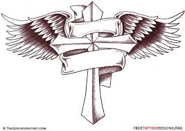 cross with wings tattoo tattoo collections