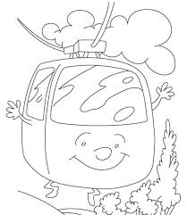free cable car coloring page transportation coloring pages of