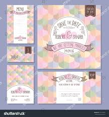 Wedding Invitations And Rsvp Cards Set Wedding Cards Wedding Invitation Save Stock Vector 471573932