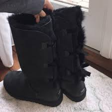 ugg boots sale bailey bow 43 ugg shoes custom uggs black bailey bow uggs from