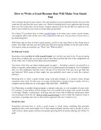 tips for making resume how to build a good resume examples resume for your job application make an excellent resume for job intended for making a good resume tips on making