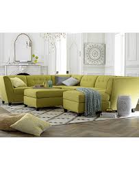 harper fabric 6 piece modular sectional sofa harper fabric 6 piece modular sectional sofa with chaise ottoman