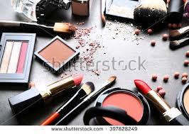 makeup artist accessories frame decorative cosmetics accessories makeup on stock photo