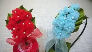 Hydrangea Flowers D I Y Organza Hydrangea Flower Headband Myindulzens Youtube