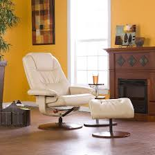 bonded leather recliner u0026 ottoman aiden lane target