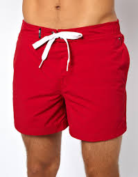 American Flag Jean Shorts Men Lyst Tommy Hilfiger Denim Flag Swim Shorts In Red For Men