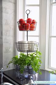 appliances stylish contemporary kitchen tiered stand fruit with