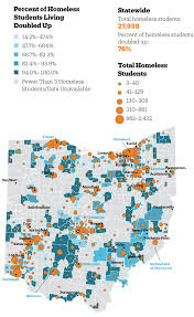 Ohio Cities Map by Ohio Has 27 000 Homeless Students Just Over Half Outside Cities