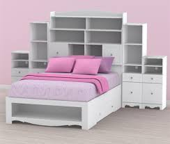 white twin bookcase headboard bedroom natural wood headboard with bookcase storage and shelves