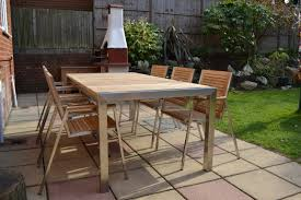 Teak And Stainless Steel Outdoor Furniture by 8 Seater Teak Stainless Steel Garden Set Nirvana